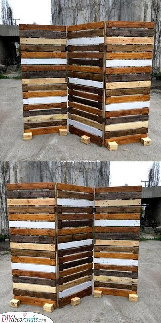 Pallet Room Separator Ideas - DIY Crafts