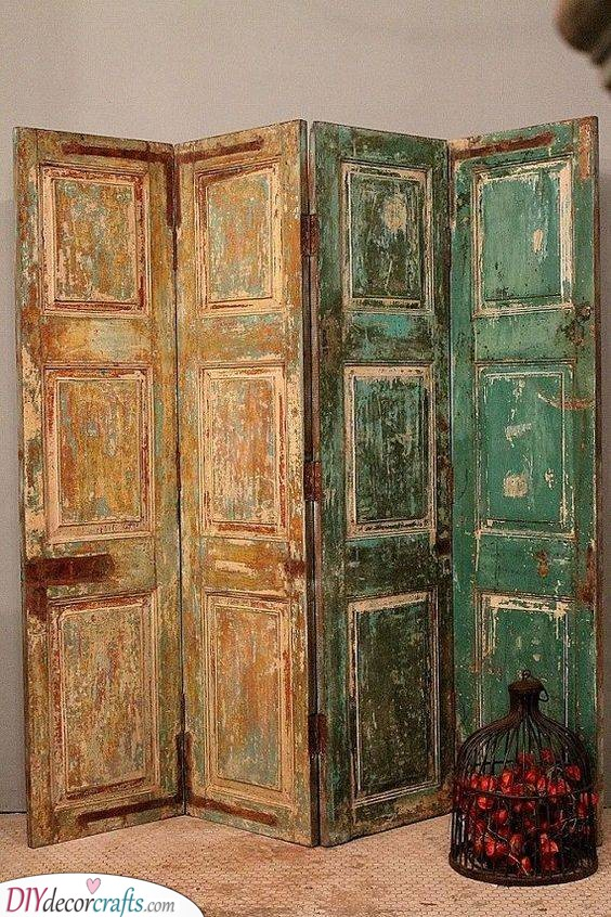 Rethink and Reuse - Old Doors Idea