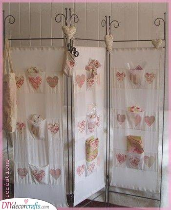 Small Pockets - Cute Room Separator Ideas