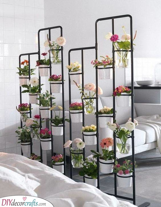 Panels With Planters - Cheap Room Divider Ideas
