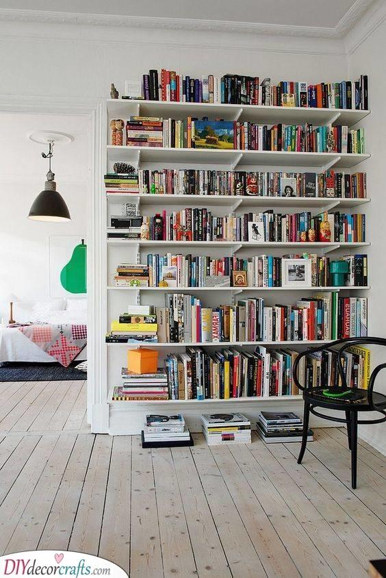 A Huge Bookshelf - Library Vibes
