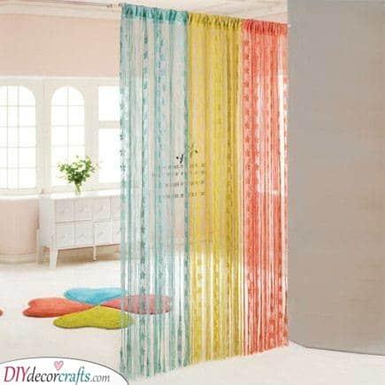 Vivid Colours - Wall Divider Ideas
