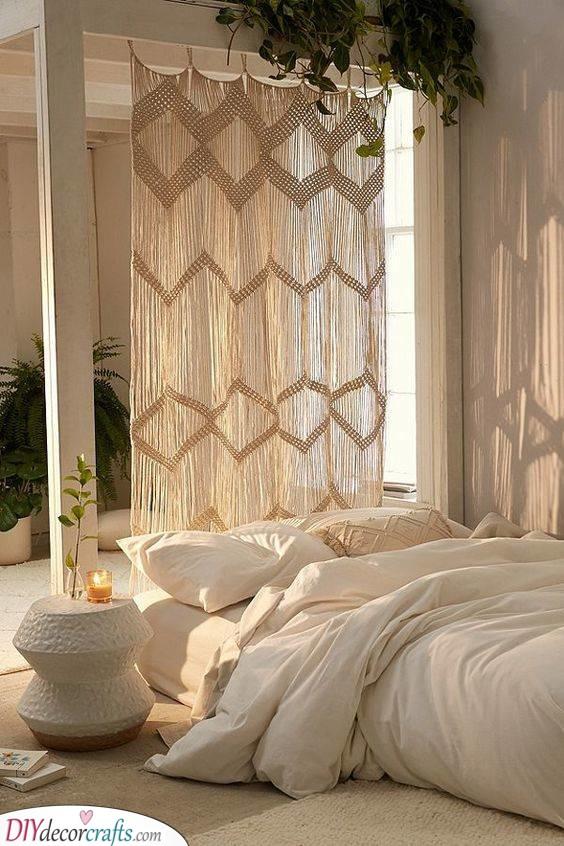 A Bohemian Curtain - Cheap Room Divider Ideas