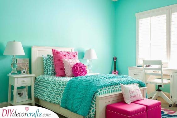 A Touch of Turquoise - Girls Bedroom Ideas