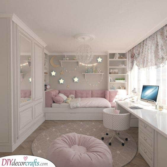 A Starlit Sky - Teenage Girl Bedroom Ideas for Small Rooms