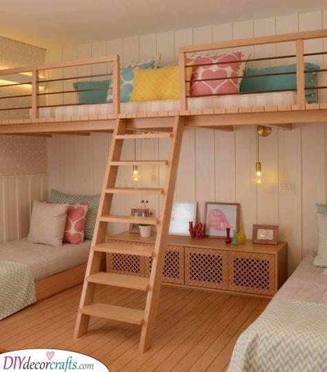 An Adorable Loft - Girls Bedroom Ideas