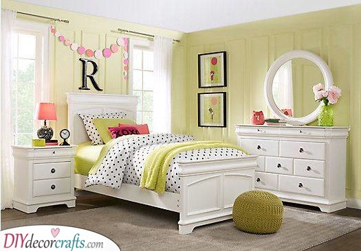 Bright Green - Teenage Girl Bedroom Ideas for Small Rooms