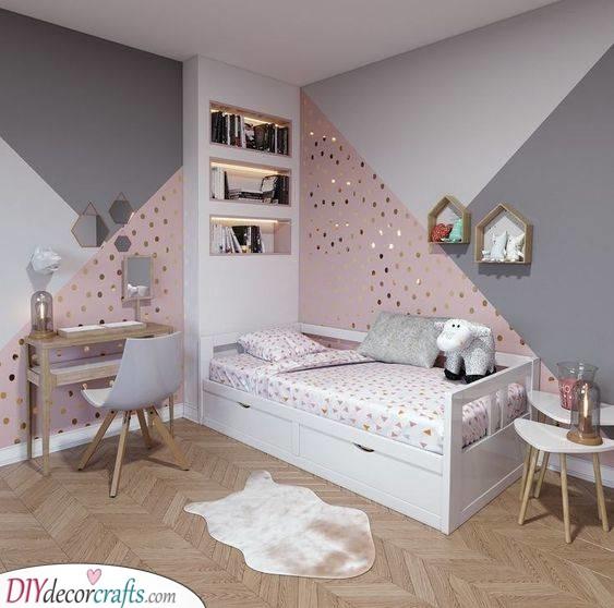 Golden Spots - Teenage Girl Bedroom Ideas for Small Rooms
