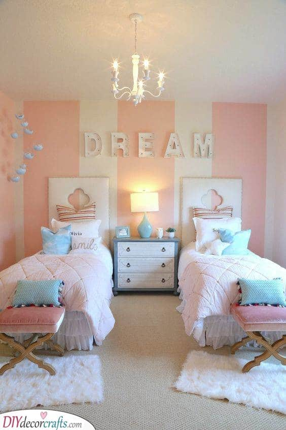 Stripes Galore - Teenage Girl Bedroom Ideas for Small Rooms