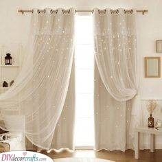 A Bright Glow - Bedroom Curtain Ideas
