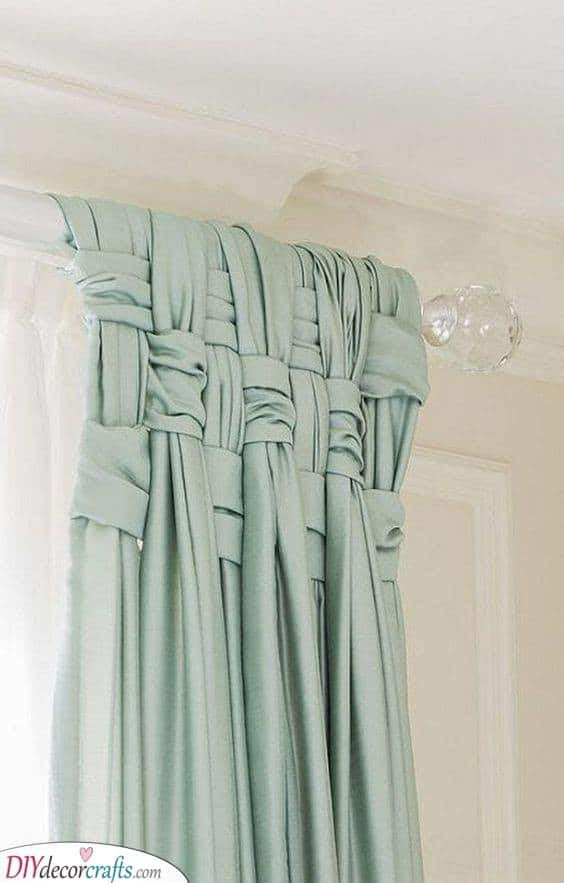 A Basket Weave - Styling Your Curtains