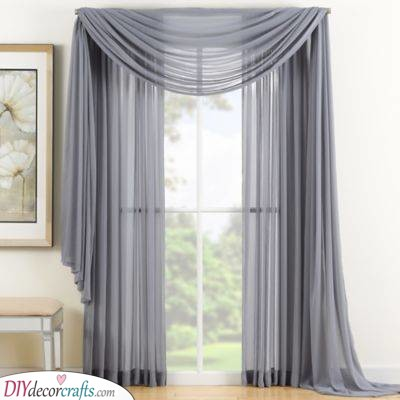 Chic and Sleek - Grey Bedroom Window Curtains