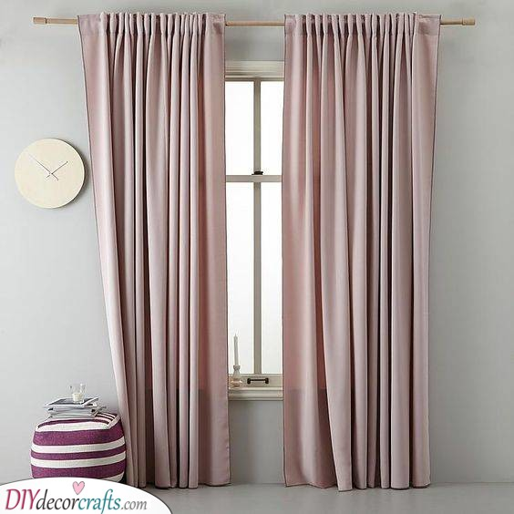 A Blushing Pink - Bedroom Curtain Ideas