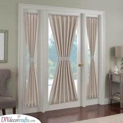 Curtains on Doors - Fantastic Ideas