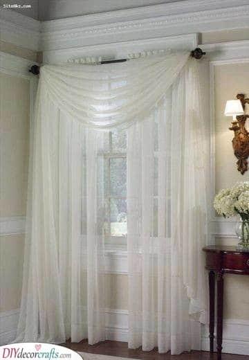 A Fancy Twist - Bedroom Curtain Ideas