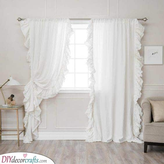 Ruffled on the Sides - Inspiration for Bedroom Curtains