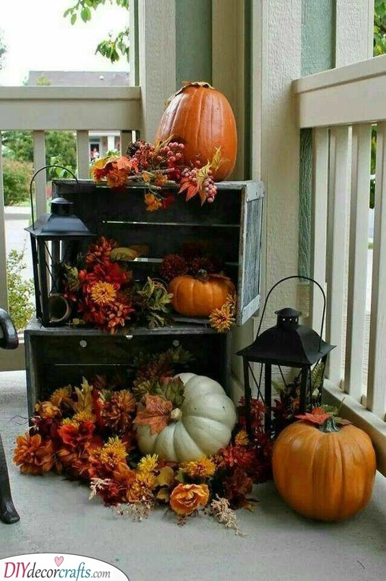 A Touch of Nature - Fall Decorating Ideas for Outside