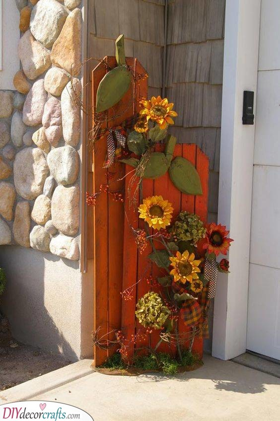 A Few Sunflowers - Earthy and Happy