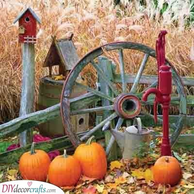 Create an Autumn Landscape - Fall Decorations for Outside