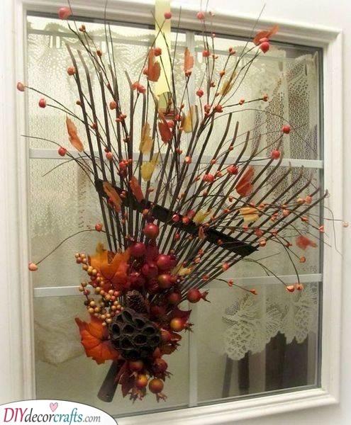 Reimagine a Rake - Fall Decorating Ideas for Outside