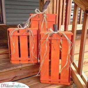Pumpkin Crates - Handmade Arts and Crafts