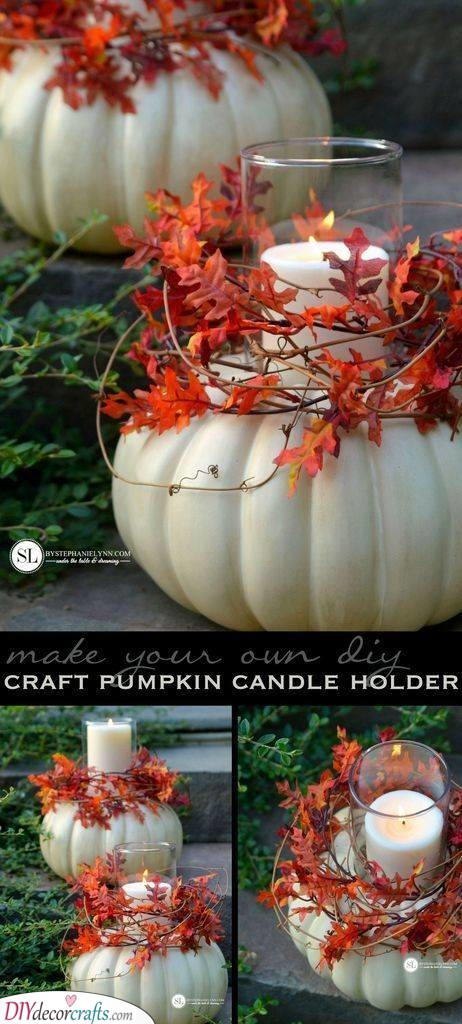 Awesome Candle Holders - Pumpkin Crafts
