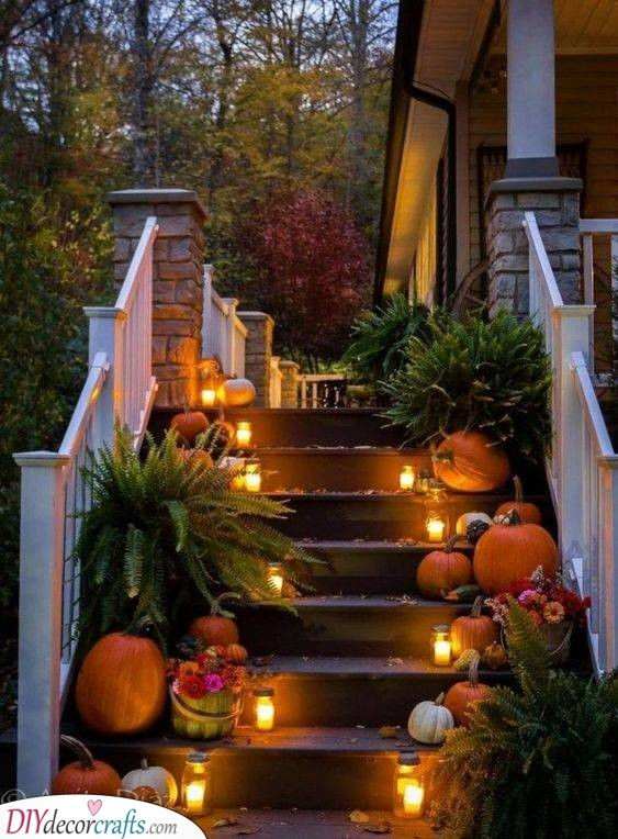 Light Up the Stairs - A Trail of Fall