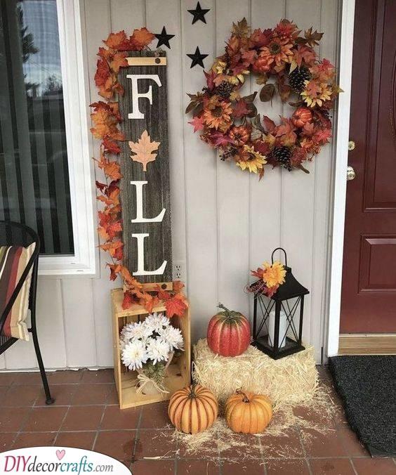 A Fall Setting - Fall Decoration Ideas for Outside