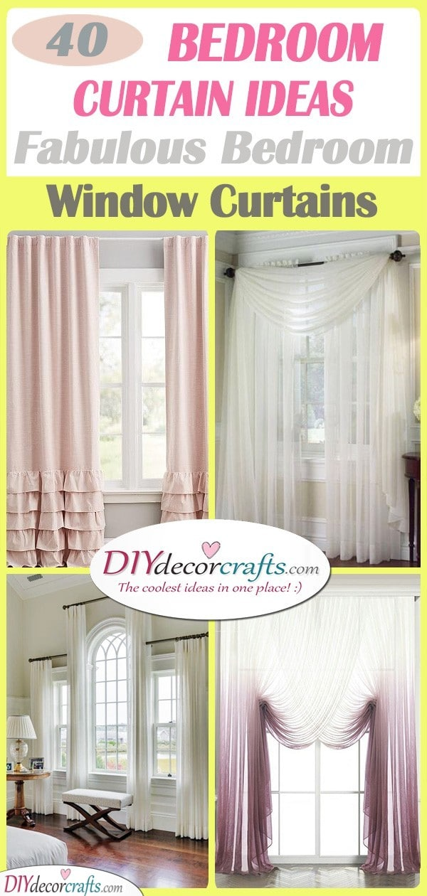 40 BEDROOM CURTAIN IDEAS - Fabulous Bedroom Window Curtains