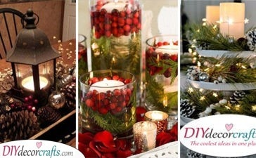 25 CHRISTMAS TABLE CENTREPIECES - Homemade Christmas Table Decorations