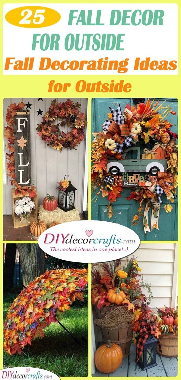 25 FALL DECORATIONS FOR OUTSIDE - Fall Decorating Ideas for Outside