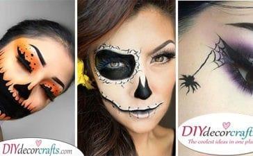 25 EASY HALLOWEEN MAKEUP IDEAS - Halloween Face Paint Ideas for Adults
