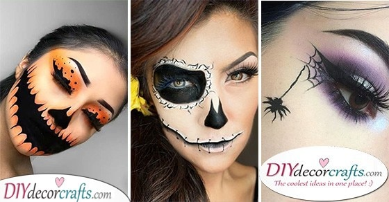 25 EASY HALLOWEEN MAKEUP IDEAS - Halloween Face Paint Ideas for Adults
