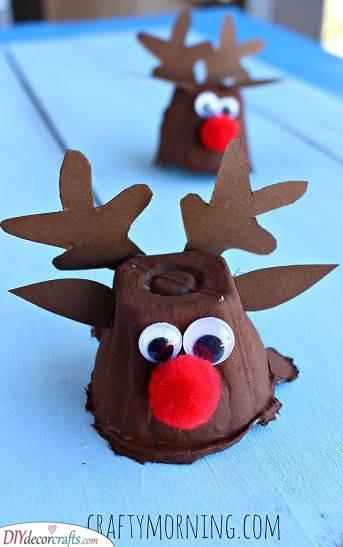 Egg Carton Reindeers - Christmas Craft Ideas for Kids