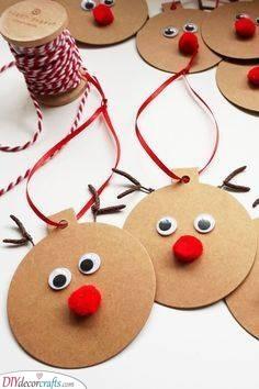 Rudolf Gift Tags - Fun Christmas Craft Ideas