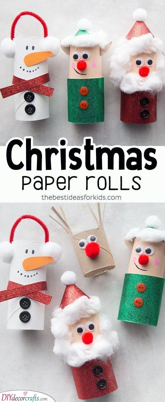 Toilet Paper Roll Idea - Winter Wonderland