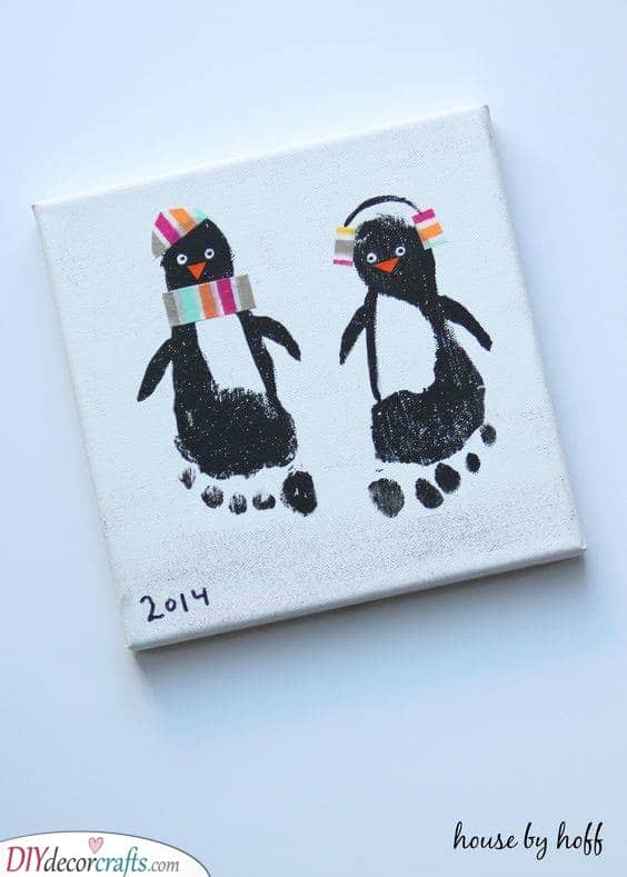 Painting With Feet - Penguin Idea