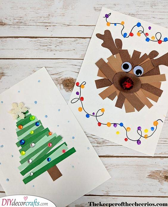 Using Paper Strips - In the Christmas Spirit