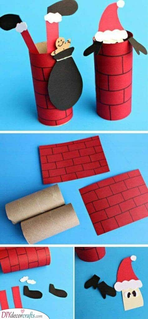 Falling Down the Chimney - Easy Christmas Crafts for Kids