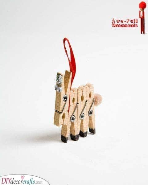 Wooden Peg Reindeer - Cute and Simple