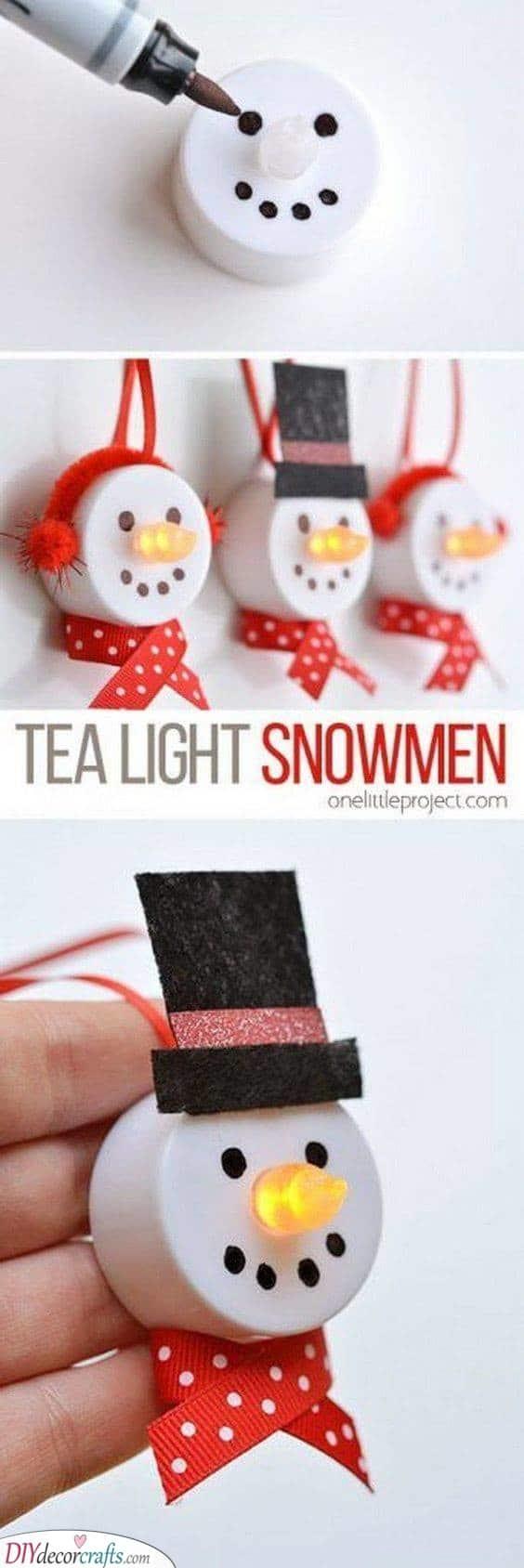 Tea Light Snowmen – Cute for Christmas