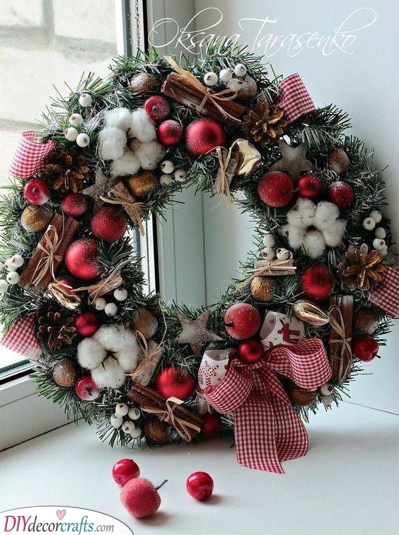 A Selection of Wintery Goods - Christmas Door Decorations
