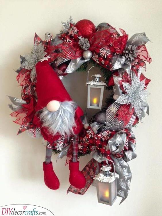 A Cute Elf - Christmas Door Decorations