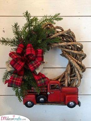 Taking the Tree Home - A Red Truck