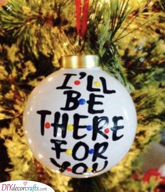 A Beautiful Christmas Tree Ornament - Inspired by Friends