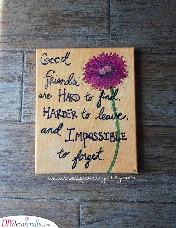 A Heartfelt Quote - Create a Painting