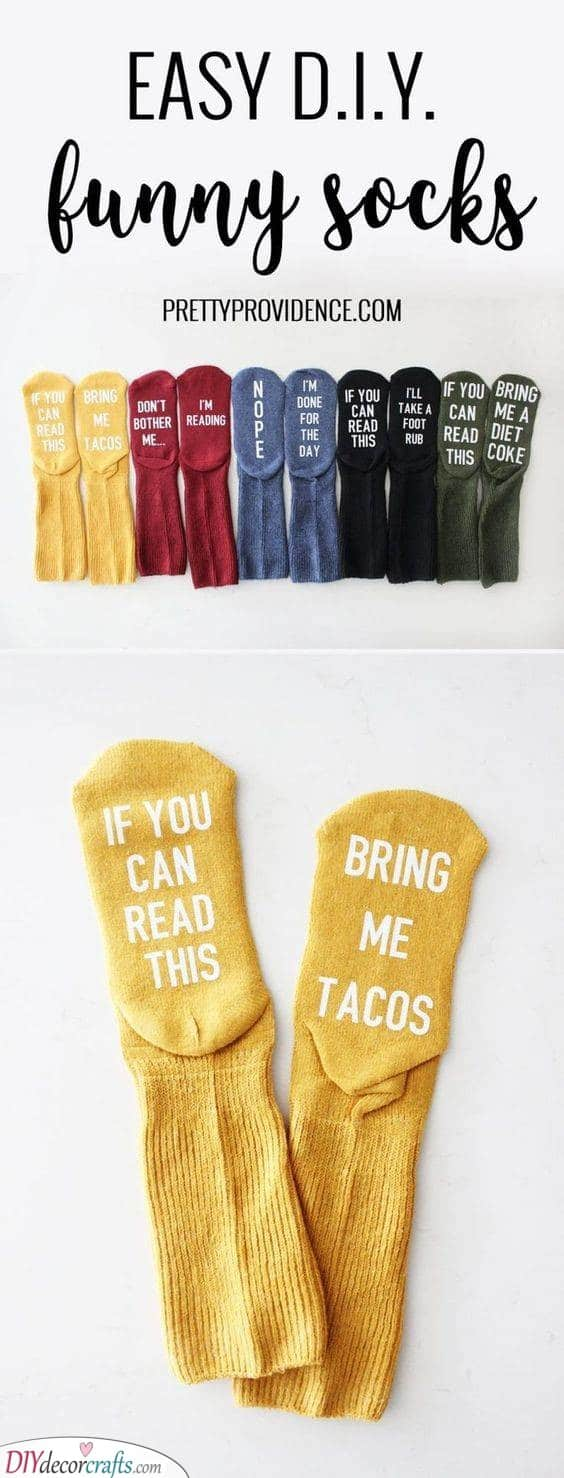 Easy DIY Socks - Things to Get Your Best Friend for Christmas