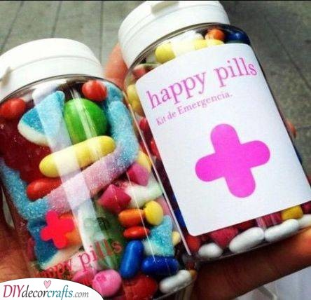 A Jar of Happy Pills - Best Friend Christmas Gift Ideas