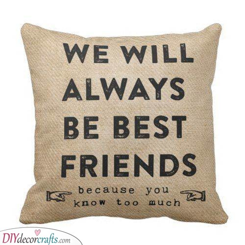 A Customised Pillow - Best Friend Christmas Gift Ideas