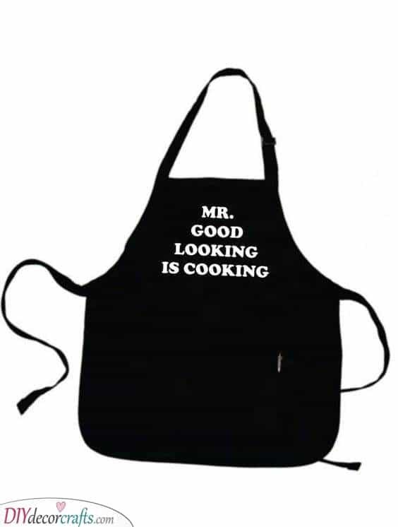 Encourage Him to Cook - A Cool Apron